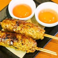 鶏つくね串(卵黄付き)