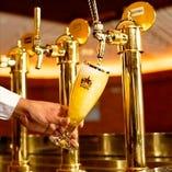 銀座ライオン川口店の自慢の生ビール