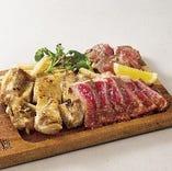肉盛り!ローストビーフ、チキンステーキ、ラムテキ豪華コラボ!