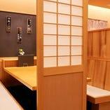 【BOXテーブル半個室】ご家族やご友人とのお食事にもおすすめ(2~6名様×2卓)