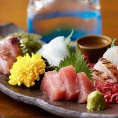 もうあしびー盛り~朝セリの新鮮な県産魚を使った刺身の5種盛り~