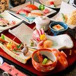 〈コース〉 旬の食材を使った華やかな会席料理3,000円(税抜)~