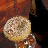 シャンパンは2段重ね。 KOBOREスパークリング