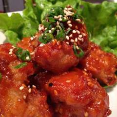 韓国風ピリ辛から揚げ(ヤンニョムチキン)