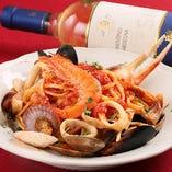 魚介とトマトのペスカトーレ リングイネ
