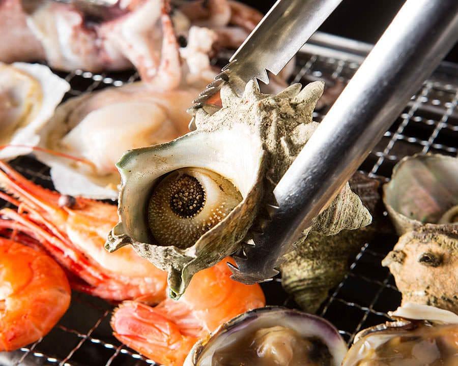 浜焼き!貝の盛り合わせ