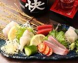 旬の鮮魚のお刺身5点盛