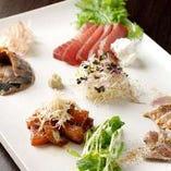 旬の魚を使ったお刺身◎季節によって様々な種類をご用意