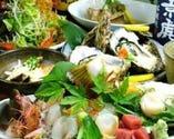 宴会コースは旬の厳選素材を 使用したお料理に飲み放題付!