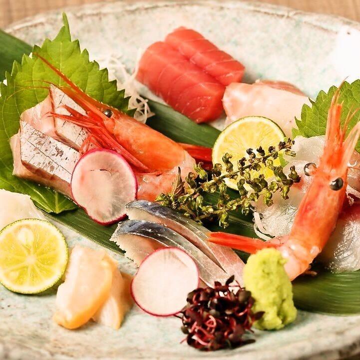 新鮮魚介で楽しむ刺身の旨み