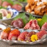 こだわりの肉寿司や鮮魚を堪能する宴会プランは3,000円~!