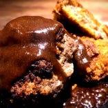 黒毛和牛100%自家製ハンバーグ&黒毛和牛コロッケ定食
