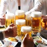 ご宴会に欠かせない飲み放題メニューも種類豊富にご用意