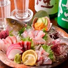 小田原近海で獲れた鮮魚の絶品刺身