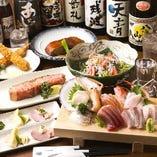宴会「ひなのコース」。鮮魚から揚げ物まで充実のラインナップ!