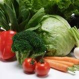 栃木県の恵まれた自然が育んだ季節の新鮮な野菜を使用【栃木県】