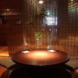 ◇2~6名様用半個室◇ 人気の円卓型ほりごたつ個室♪