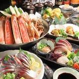 鮮魚のお刺身付きコースをご用意しております。ご宴会にどうぞ。