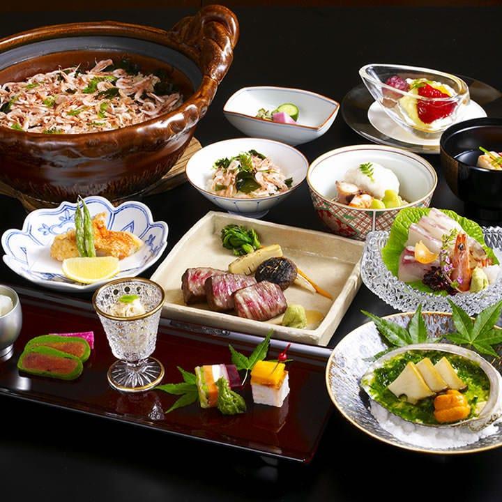 ◆新鮮な海鮮を使った会席料理