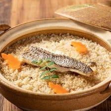 【宴会コース人気No,1】飲み放題付(LO90分) 真鯛のお造りと名物の土鍋ごはん。匠コース(全9品)4,500円