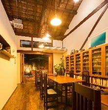 京町家を改装した開放感のある店内