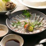 鯛、ぶりなど、旬の魚はしゃぶしゃぶでも堪能いただけます