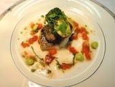 鮮魚と蟹肉入りムースのポワレ