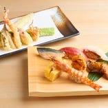 お寿司と天麩羅、江戸を代表する2つの料理が一度に楽しめます!