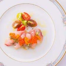 宮崎産直!朝獲れ鮮魚とカラスミのカルパッチョ
