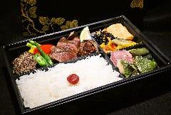 糸島牛ローストビーフと猪ハンバーグ御膳