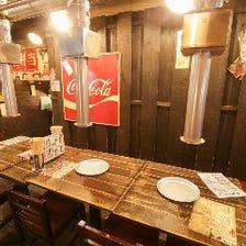 昭和レトロな空間で焼肉を堪能!