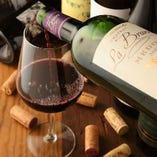ソムリエの資格をもったオーナー厳選のワイン