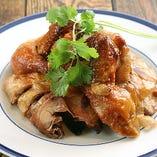 風干し丸鶏のパリパリ揚げ