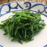 旬の青菜オイスターソース炒め