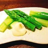 野菜も季節に応じた旬のものをご提供いたします。