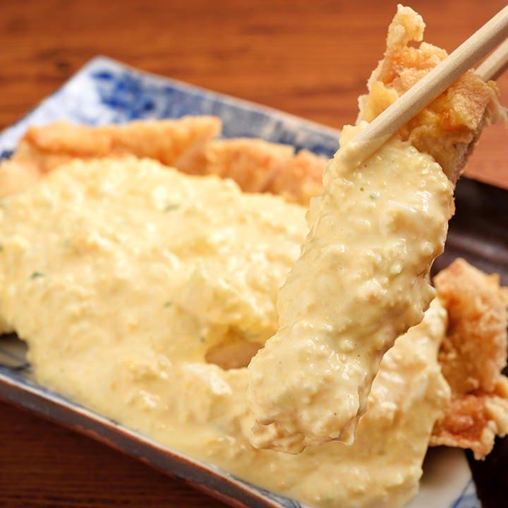 奥三河鶏のチキン南蛮と濃厚タルタル