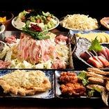 ガッツリ派にはこちら!串焼き2種やお刺身4種などを楽しむ!全12品4,300円/4,500円