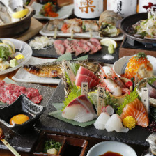 全て日替わりの海鮮料理