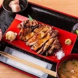 豚ロースの藁焼き定食