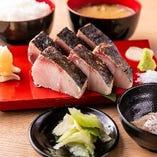 魚のわら焼き2種盛り合わせ定食