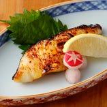 身がしっかりとしてぷりっとした食感が人気の「銀鱈の西京焼き」