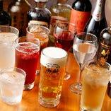サワーや焼酎、カクテルなどドリンクの種類は50種類以上。あなたに合うお酒がきっと見つかるはず