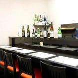デートやご友人同士でのお食事に最適なカウンター席