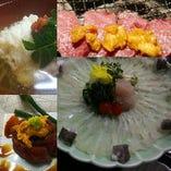 淡路産の旬食材を満喫できるコース料理を多彩にご用意