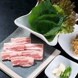 サムギョプサルセット(Pork Belly set)※2人前から注文可