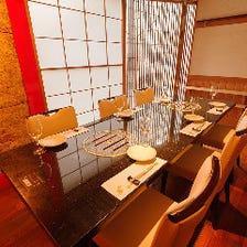 伝統美感じる完全個室は接待や会食に