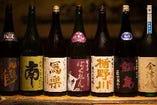 【NEW!!】≪日本酒と魚介のコース≫人気銘柄含む日本酒が10種愉しめるお得なコース!6000円(税込)