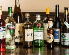 種類豊富なお酒の数々