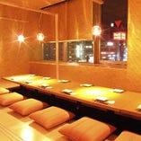 窓側の完全個室のお席は大人気!名駅エリアでのご宴会に是非!