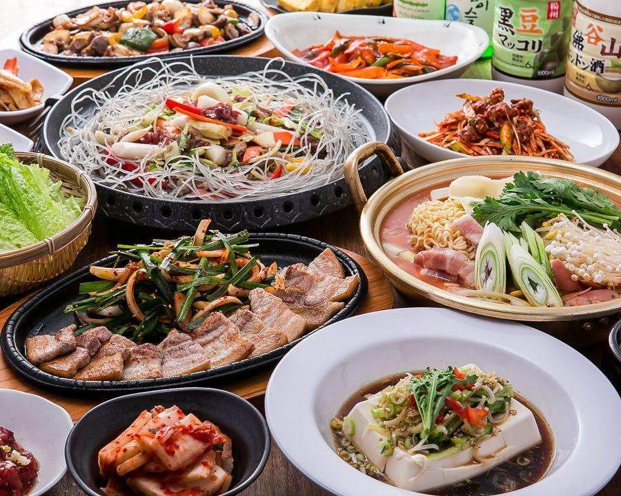 絶品韓国料理で宴会!お得なコース♪